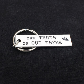 The Truth Is Out There - X Files - Aluminum Key Chain