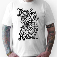 They See Me Rollin - Monopoly Unisex T-Shirt
