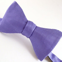 Silk Purple Bow Tie Freestyle & Adjustable  by VaVaSilkBowTies