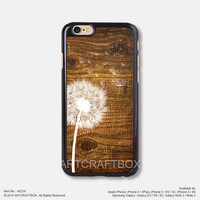 Dandelion on Vintage wood iPhone 6 6Plus case iPhone 5s case iPhone 5C case iPhone 4 4S case Samsung galaxy Note 2 Note 3 Note 4 S3 S4 S5 case 234