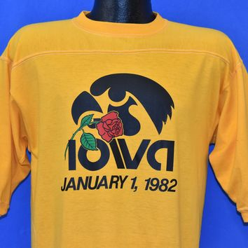 80s Iowa Hawkeyes Rose Bowl 1982 t-shirt Medium