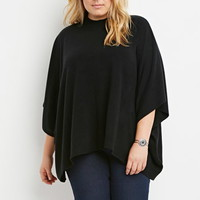 Plus Size Mock Neck Dolman Sweater
