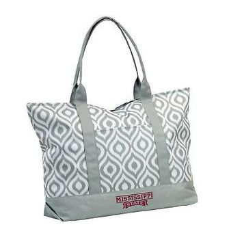 Licensed Mississippi State Bulldogs Official NCAA Ikat Tote by Logo Chair Inc. 056980 KO_19_1
