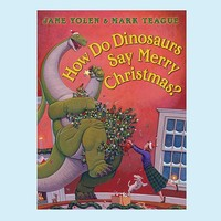 How do Dino's Say Merry Christmas Book | Pottery Barn Kids