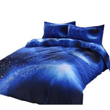 Starry Sky Home Textiles Beding 3D 4 pcs Beding Quilt Cover Flat Sheet Pillow Case x2   05
