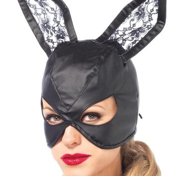 Mask Bunny Leather Black for 2017