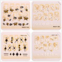 bowknot&flower hot sale new nail art stickers 4 styles free shipping