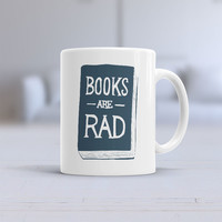 Books Are Rad Ceramic Mug