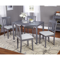 Simple Living 5pc Stratton Grey Dining Set | Overstock.com Shopping - The Best Deals on Dining Sets