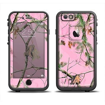 The Pink Real Camouflage Apple iPhone 6 LifeProof Fre Case Skin Set