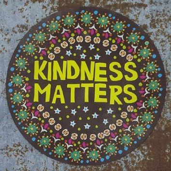 """Natural Life Cherry Car Magnet """"Kindness Matters"""" Brown Background Accessory"""