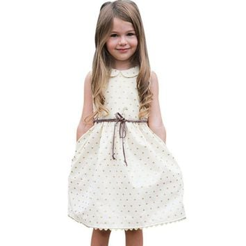24M Girl Heart Printed Spring Dress For Girls
