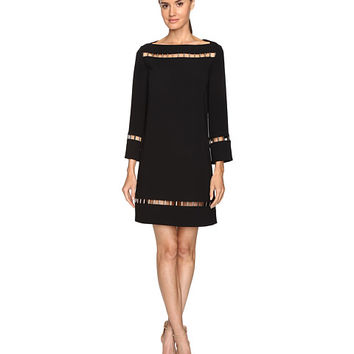Versace Collection Long Sleeve Boat Neck Dress