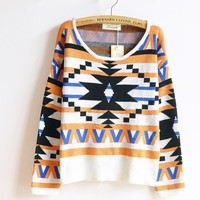 The geometric patterns hedging national wind thick sweaters sweater fs07