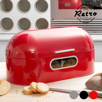 Retro Metallic Bread Bin