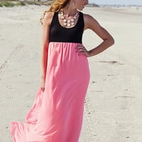 Erica Maxi Pink and Black - Retro Darling