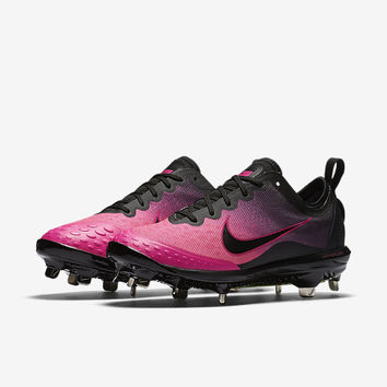The Nike Lunar Hyperdiamond 2 Elite Women's Softball Cleat.