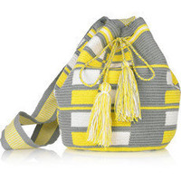 Wayuu Taya | Mochilla hand-woven cotton shoulder bag | NET-A-PORTER.COM