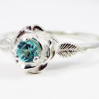 Rose Apatite Sterling Silver Ring