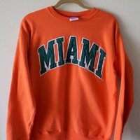 Vintage University of Miami Sweatshirt