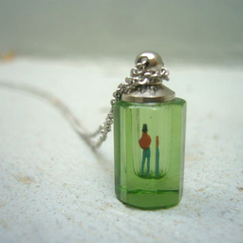 Put him in a green bottle necklace