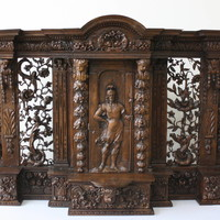 17th Century Fine Carved Renaissance Tabernacle