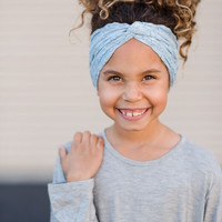 Blue Lace Girl's Headband