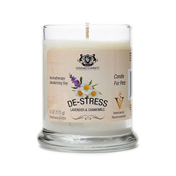 Lavender and Chamomile Aromatherapy Soy Candle - Pet Deodorizer Candle - 6 OZ (170 g)