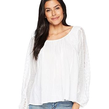 Lucky Brand Cross-Back Peasant Top