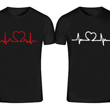 BEATING HEARTS T-shirts + Your NAMES or another text on the back