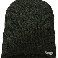 neff Men's Daily Heather Beanie, Black/Olive, One Size