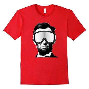 Abraham Lincoln Shirt Funny Snowboarder President's Day Tee