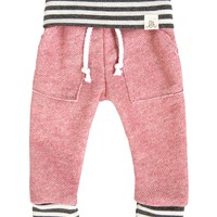 Dusty Rose & Gray Stripe Sweats