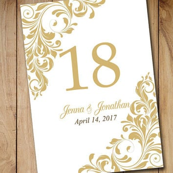 Printable wedding table number template from paintthedaydesigns for Wedding table numbers template