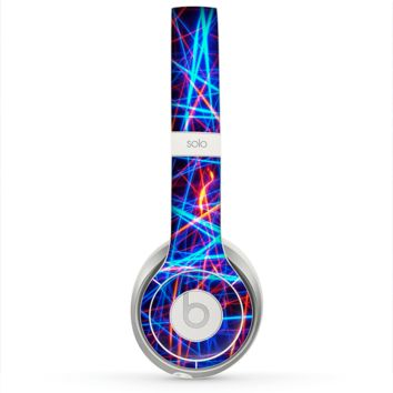 The Neon Glowing Strobe Lights Skin for the Beats by Dre Solo 2 Headphones