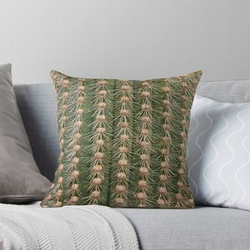 'Cactus close up' Throw Pillow by steveball