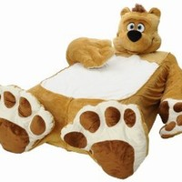 Incredibeds Teddy Bear Bed Cover, Twin, Brown