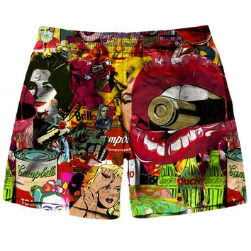 Pop Art Therapy Shorts