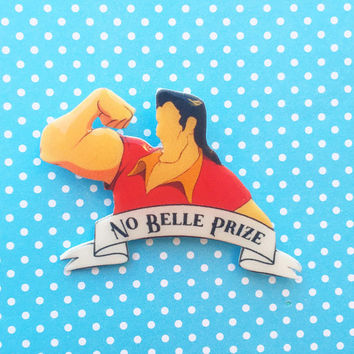 """Villains Collection """"Winner of The No Belle Prize"""" Gaston Inspired Beauty & The Beast Brooch"""