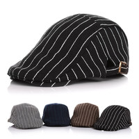Hot Kids Baby Boy Girl Hat Stripe Beret Cap Driving Flat Newsboy Casual Fashion Children Berets New Classic Child Tiddler Hat