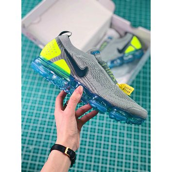 Nike Air Vapormax Flyknit Moc 2 Green | Ah7006-300 Sport Running Shoes - Sale