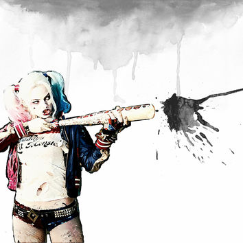 Harley Quinn / Suicide Squad Wall Art  | Lisa Jaye Art Designs