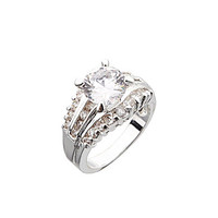 Dillard's Boxed Collection CZ Wedding Ring