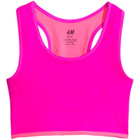 H&M - Sports Bra - Neon pink - Kids