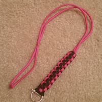 Custom Paracord Lanyard for Keys and Badges Cobra Weave Camping and Hiking Outdoors Survival Gear