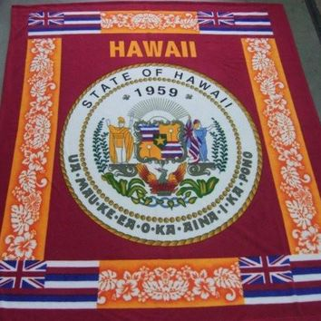 Seal of Hawaii Fleece Blanket