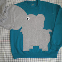 LIMiTED EDITiON Elephant Trunk sleeve sweatshirt sweater jumper MENS M TEAL