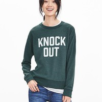 "Banana Republic Womens ""Knock Out"" Graphic Sweatshirt"