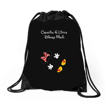 Creating A Little Disney Magic Minnie Mouse Drawstring Bags
