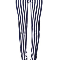 Aoki Fashion - Smart Striped Leggings